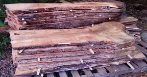 Evenly milled drying koa slabs sold as slab or made to board ft. Highly figured with curl. bookmatched stack 25 br ft