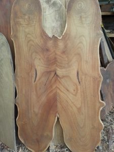 bookmatched black walnut